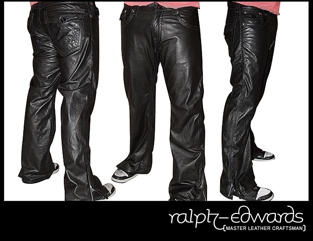 Boot Cut rockstar style leather pants