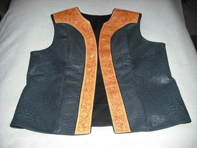 Custom Ostrich Leather Vest