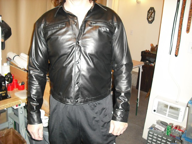 Custom Leather Shirt