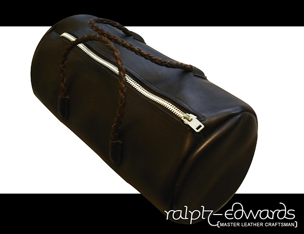 Black Tote Bag - 5/6 oz. Latigo with 4 strand braided handles