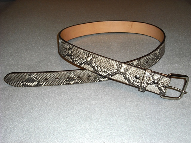 Python Snake Belt - 1-3/4 inch width to fill up the pant keepers