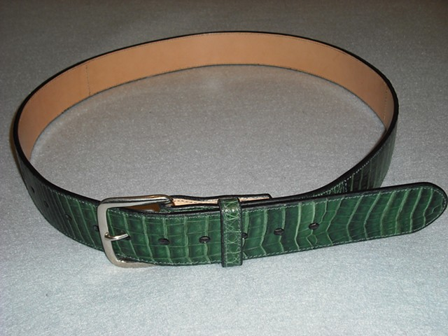 Green Lizard Belt