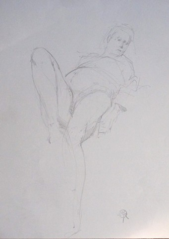 Reclining Gesture; Foreshortened