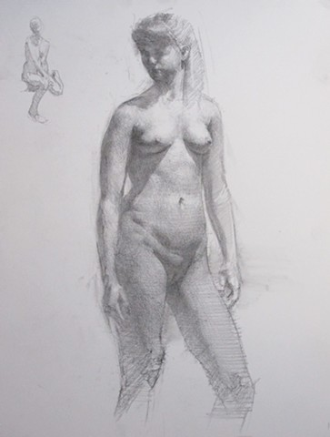 Standing Woman Looking to the Left