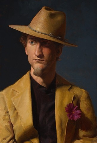 Man with a Wide-Brimmed Hat