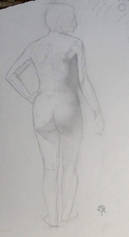 Standing Nude with Hand on her hip