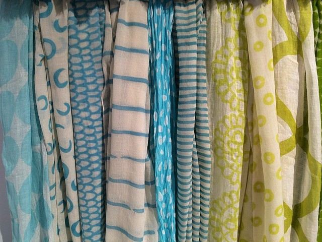 blue/green scarves