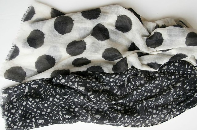 black wool scarves