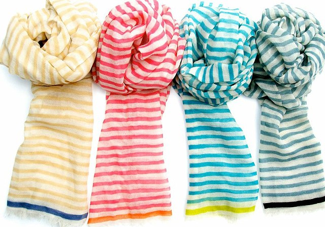 karma stripe scarves