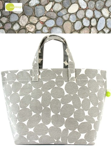 See Design Square Tote Stones Grey