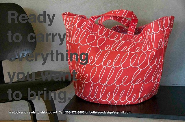 notes red circle tote