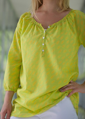 dabs yellow/green claire caftan