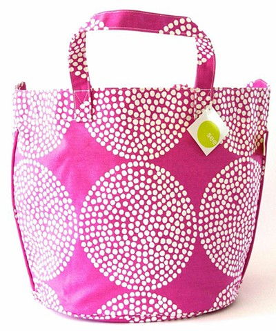 orchid big wheels circle tote