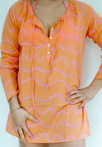 song orange/pink Eve caftan