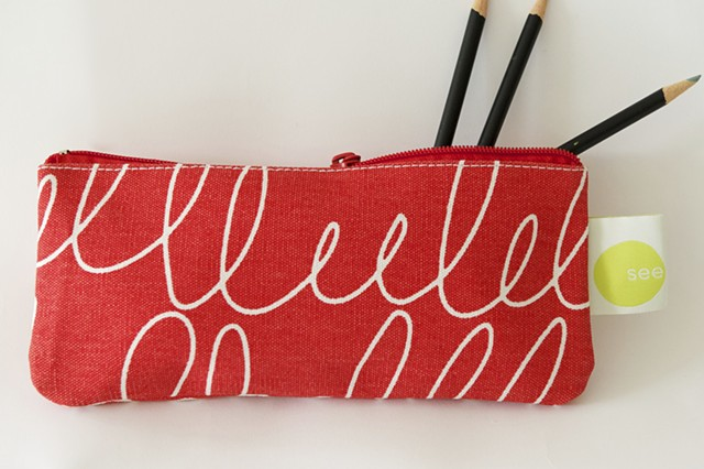 notes pencil case