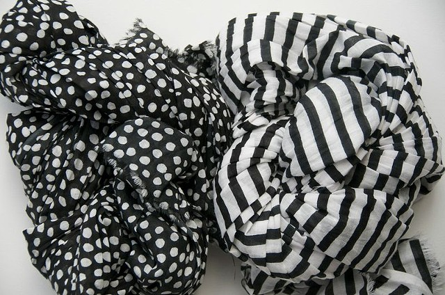 black cotton scarves