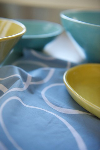 sugar blue napkin