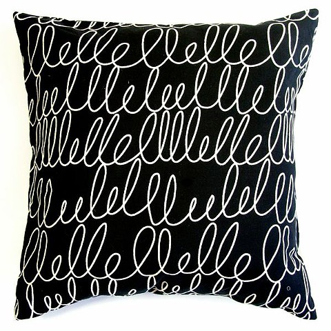 black notes pillow