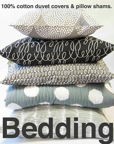 grey bedding