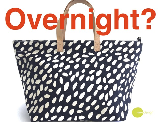 See Design Overnighter Cheetah Black