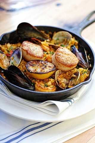 Paella - Sam's Chowder House