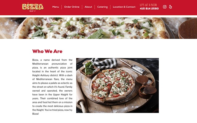 Bizza Restaurant, San Francisco