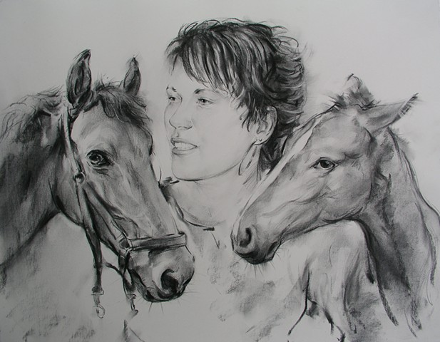 Portrait With Horses