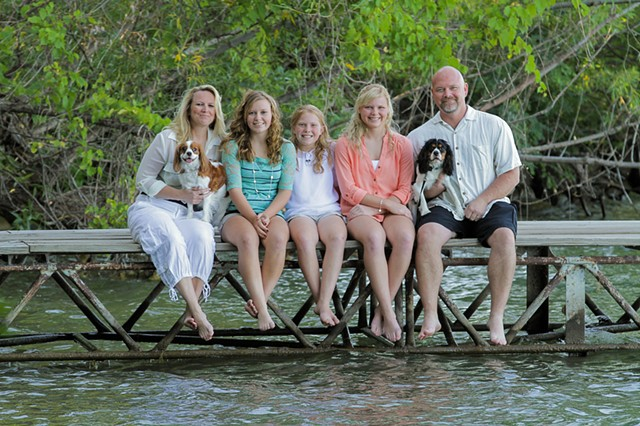 Kleve Family on the dock with Moses & Abbie