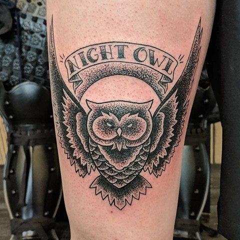 Owl Tattoo By Sheila Anderson Crimson Empire Tattoo