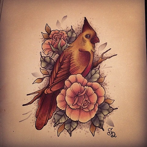 Bird Sketch by Sydney Dyer