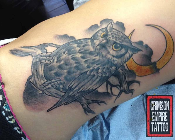 Owl Tattoo Crimson Empire Tattoo