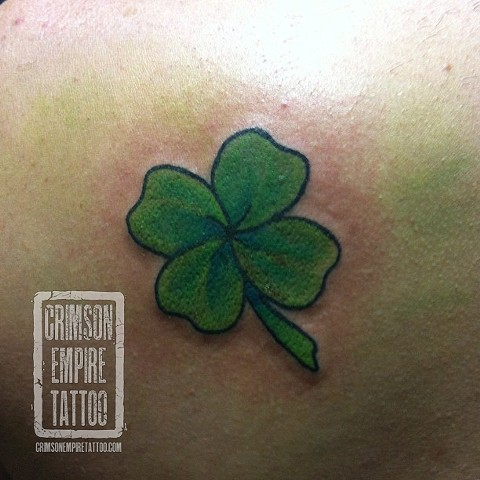 Four leaf clover on back by Jessica Doyle