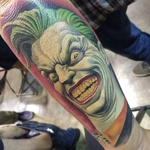 Joker Tattoo By Marshall Khalil Color Crimson Empire Tattoo