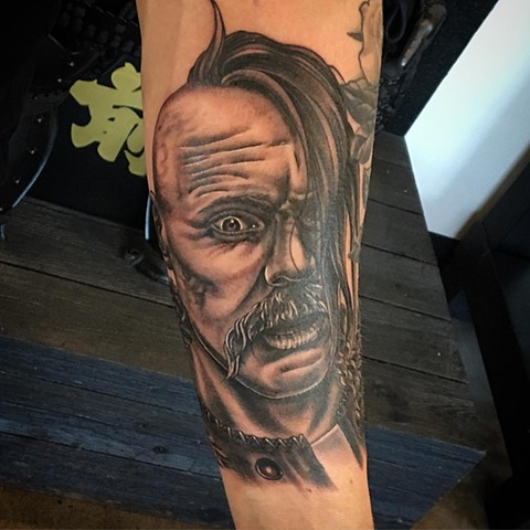 Portrait Tattoo By Dale Moostoos Black And Grey Crimson Empire Tattoo