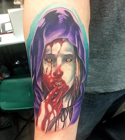 1f002e9e6 Vampire Girl Tattoo By Chad Lavers Color Crimson Empire Tattoo