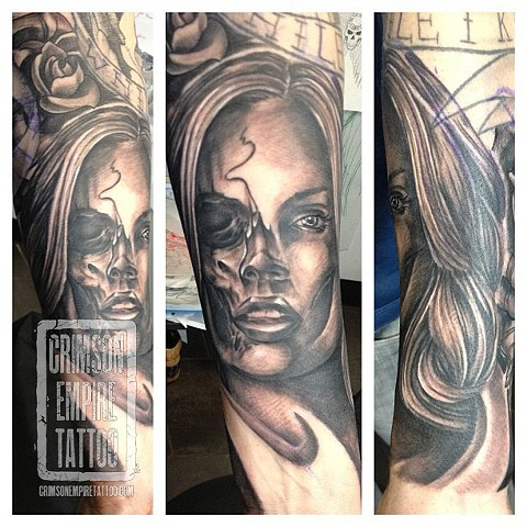 Girl on forearm by Josh Lamoreux. Follow Josh @joshlamoureux