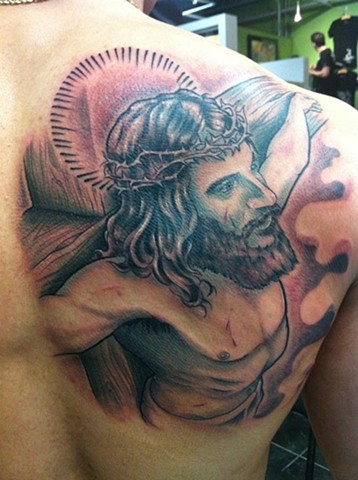 Jesus Tattoo By Kyiel Cholik Color Crimson Empire Tattoo