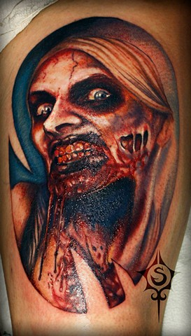 Zombie Tattoo By Samantha Storey Color Crimson Empire Tattoo