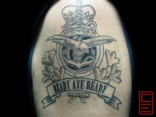 crown military crest tattoo