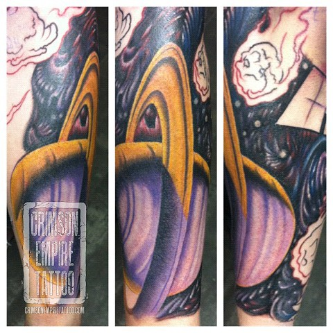 Planets forearm sleeve by Jared Phair