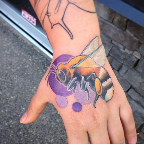 Bumble Bee Tattoo By Landon Wierenga  Color Crimson Empire Tattoo