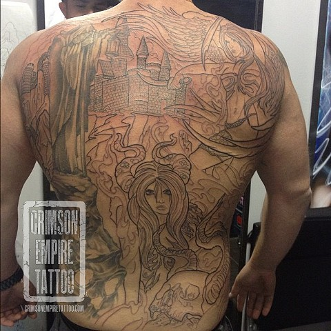 Girl with castle on back by Josh Lamoreux. Follow Josh @joshlamoureux