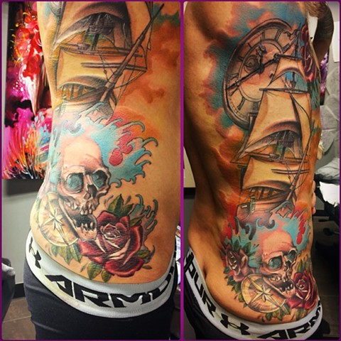 Nautical Tattoo By Samantha Storey Color Crimson Empire Tattoo
