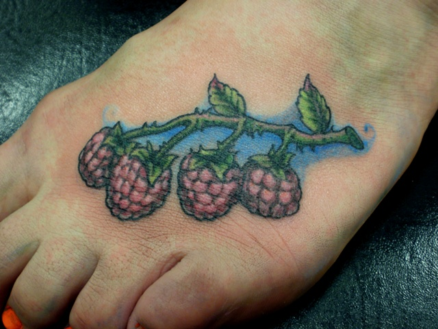 Raspberries on Foot