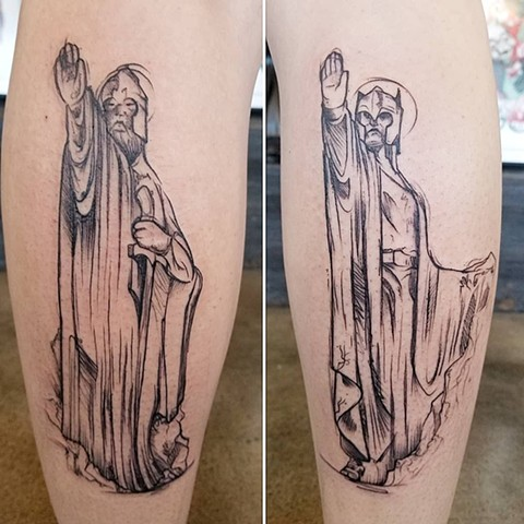 Lord Of The Rings Tattoo By Adrienne Alexander Black Work Crimson Empire Tattoo