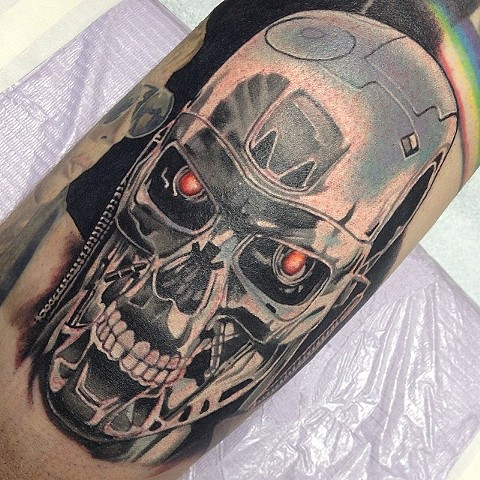 Terminator Tattoo By Marshall Khalil Color Crimson Empire Tattoo