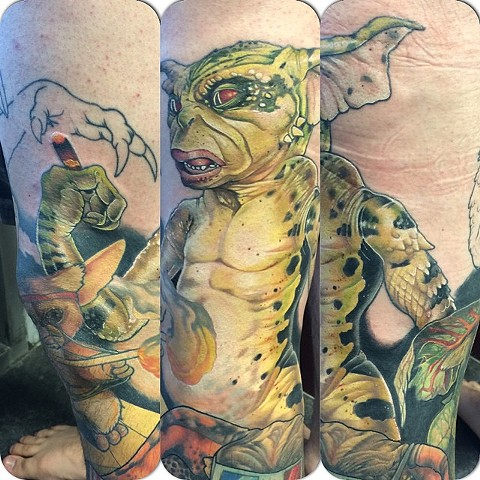 Gremlins Tattoo By Marshall Khalil Color Crimson Empire Tattoo