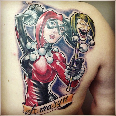 Harley Quinn Tattoo By Kyiel Cholik Color Crimson Empire Tattoo