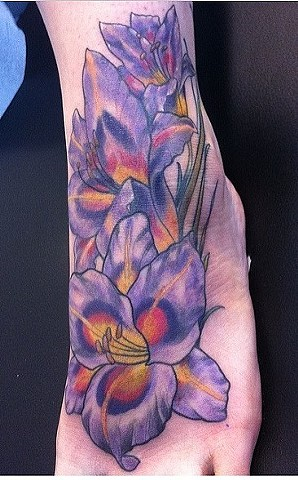 Lilies Tattoo By Ashley Gray Color Crimson Empire Tattoo