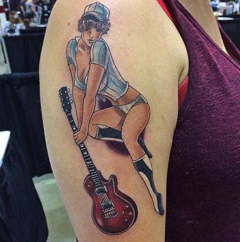 Pinup Tattoo By Chad Lavers Color Crimson Empire Tattoo